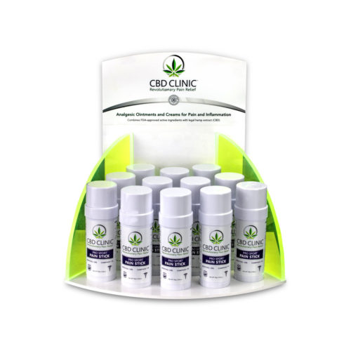 CBD CLINIC PRO SPORT PAIN STICK DISPLAY - LOADED